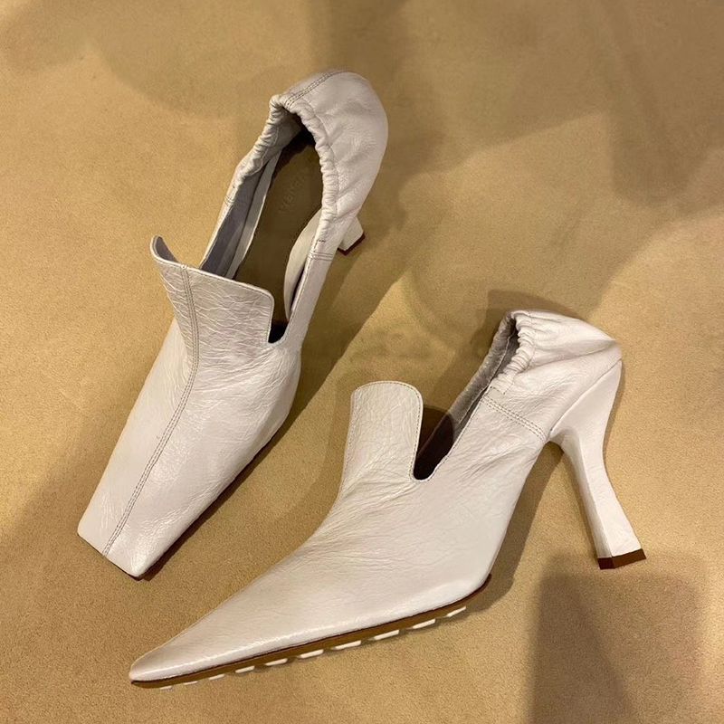 High Heels Pumps Women Square Toe Shoes Women Slip On Sapato Feminino Sexy Ladies Shoes Luxury Chaussures Femme Zapatos De Mujer