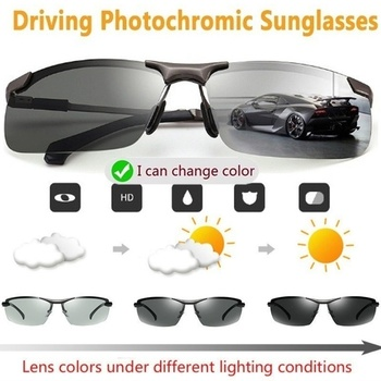 Day Night Vision Glasses 2020 Photochromic Sunglasses Men Polarized Driving Chameleon Glasses Male Change Color Sun Glasses classic vintage photochromic sunglasses men polarized sun glasses driving eyewear male night vision change color lens anti glare
