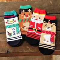 Harajuku Christmas Socks Women Funny Cute Winter Warm Sock Gift Kawaii Cotton Cartoon Cozy Thick 2019 Novelty Streetwear Fashion