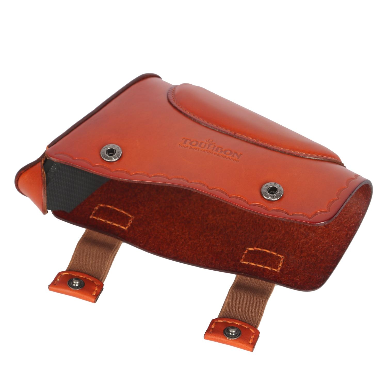 resto universal couro genuino recoil pad protetor de acessorios arma 02
