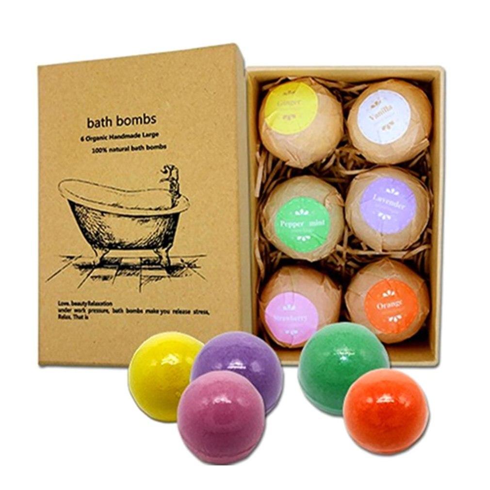 Bath Salt Ball Body Skin Whitening Ease Natural Bubble Shower Bombs Ball Body Cleaner Essential Oil Spa