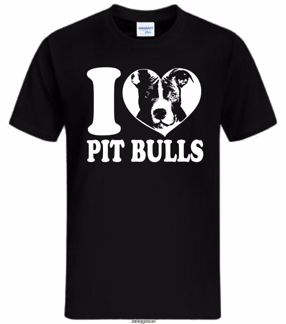 Мужская футболка, модная забавная одежда, повседневные футболки с коротким рукавом, I Love Pit Bulls Kult, Ретро стиль, Herrentag Fan, хипстерская футболка