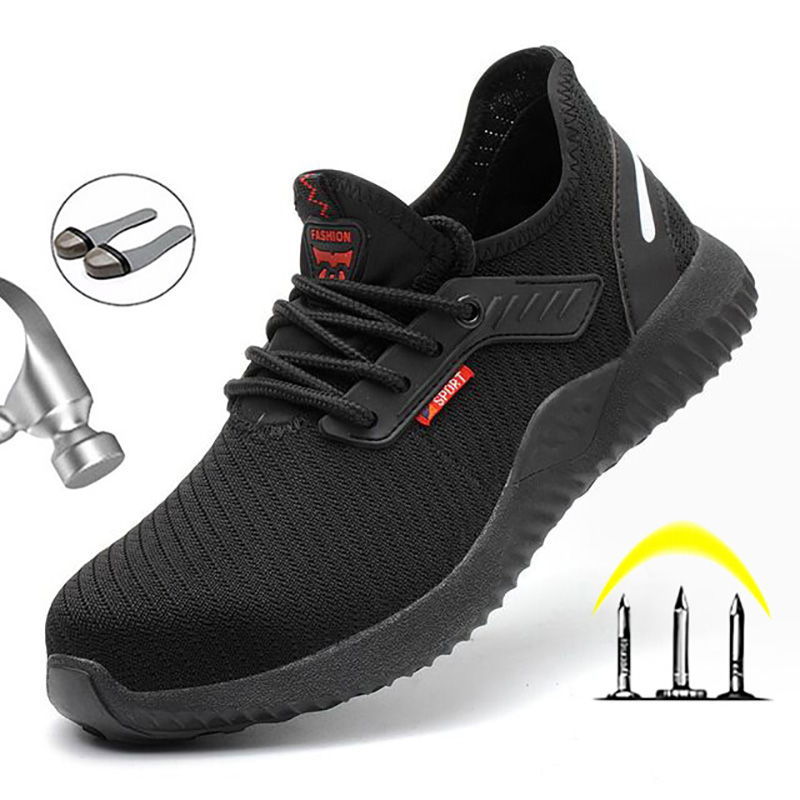 Yuxiang Men's Safety Shoes Steel Toe Construction Protective Footwear Puncture-Proof Sneakers Work Shoes Indestructible Shoes