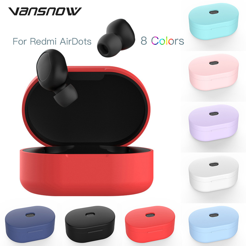 """New Silicone Protective Cover Earphone Case For Redmi Airdots Case /Global Version Redmi Airdots """"Mi True Wireless Earbuds Basic"""