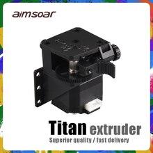 Titan extrusora para impressora 3d, peças para mk8 e3d v6 com suporte de montagem, parafuso j, extremidade quente para filamento de 1.75mm