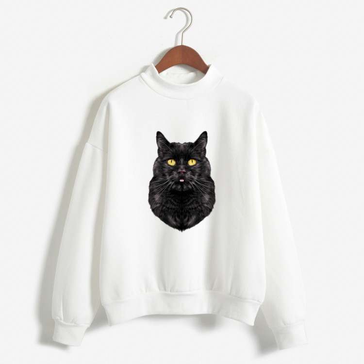 Hooded Sweatshirt Hoodie Cat 2019 Brand Hoodies Women Female Long Sleeve Solid Color Tracksuit Sweat Coat Casual Sportswear 2XL