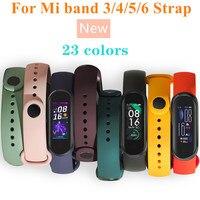 Bracelet for Xiaomi Mi Band 6 5 4 3 Sport Strap Replacement Wristband MiBand 6 4 band5 Wrist Strap for xiaomi Mi Band 4 3 strap 1