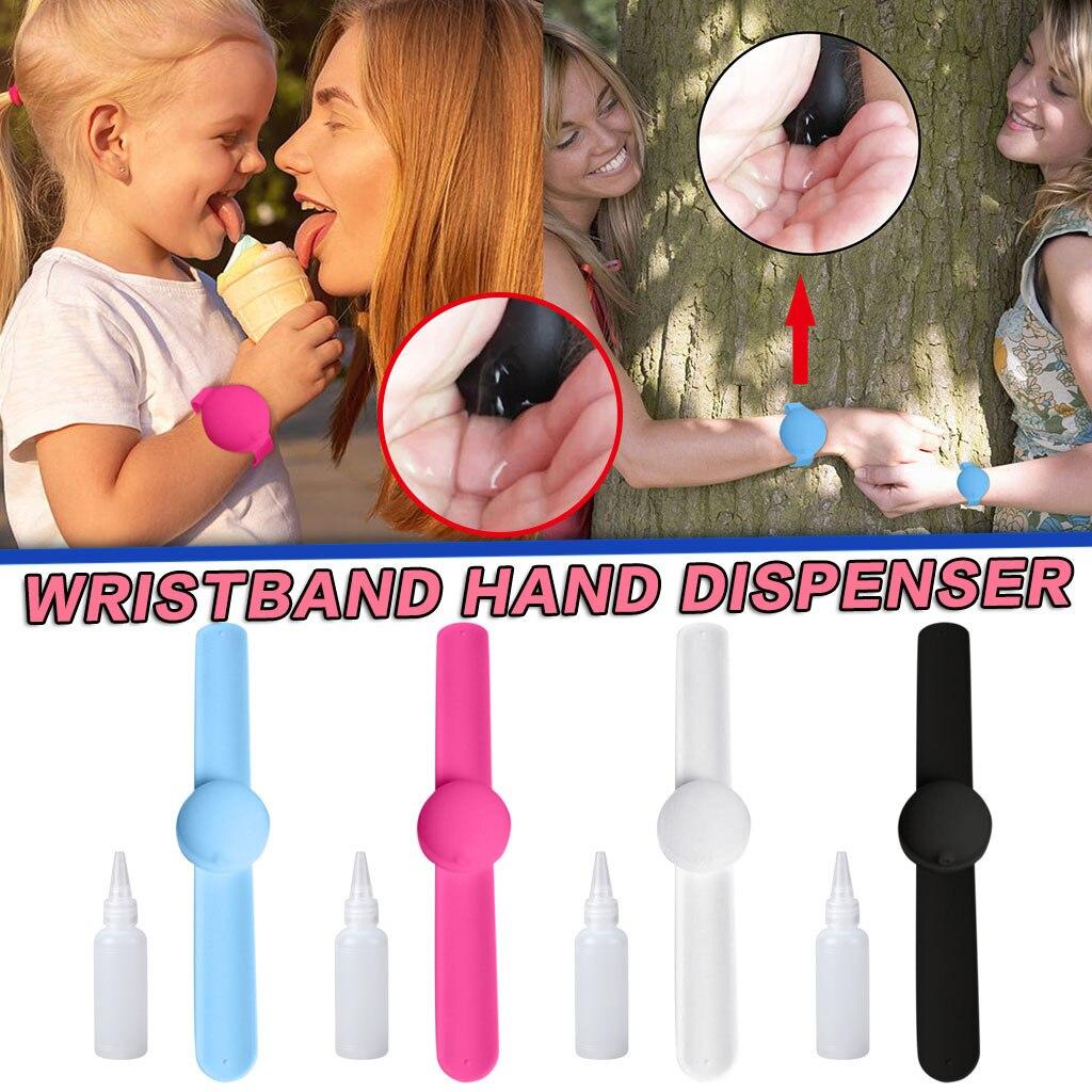 New Kid Love Heart Hand Sanitizer Dispensing Portable Bracelet Wristband Hand Dispenser pulsera dispensadora de gel