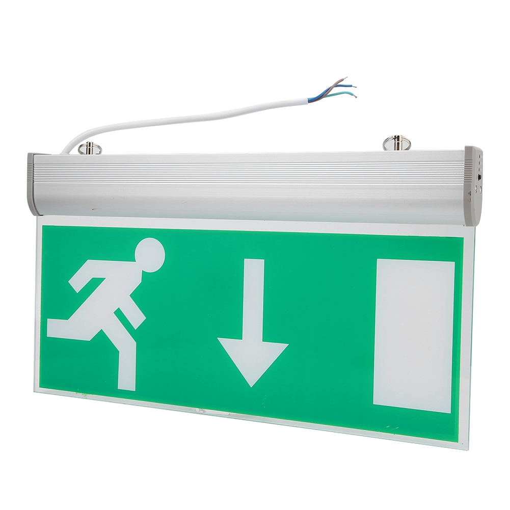 High Bright LED Emergency Exit Lighting Sign Light Safety Evacuation Indicator Light Automatic Detect Repair Light Free Shipping