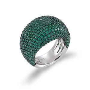 Image 4 - TKJ Anillo de espinela negra para mujer, joyas de piedras preciosas de Plata de Ley 925 auténtica para mujer, piedras redondas, regalo de joyería de compromiso de boda