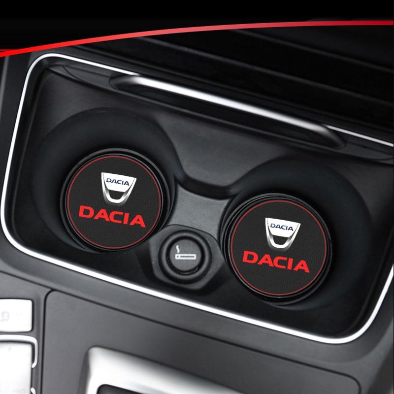 1pcs ถ้วยผู้ถือ Pad ถ้วยรถ Anti SLIP สำหรับ Dacia Duster Logan Sandero 2 MCV Sandero รถอุปกรณ์ตกแต่งภายใน