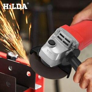 Image 5 - HILDA amoladora angular eléctrica, 1100W, herramienta eléctrica de molienda, corte de Metal