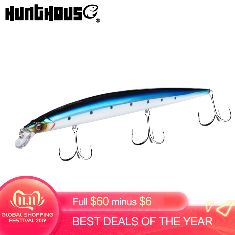 hunthouse mommotti lure fishing bait fishing lure jerk minnow float hard saltwater bass lures 210mm 34g for sea fishing bass lw