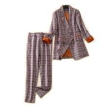 Осенне зимние профессиональные женские брюки костюм из двух