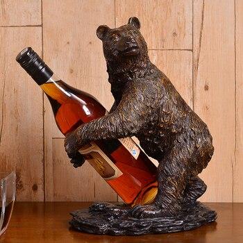 Rétro ours casier à vin Vintage porte-bouteille montage Restaurant salle à manger Bar maison stockage meubles vin vitrines étagère