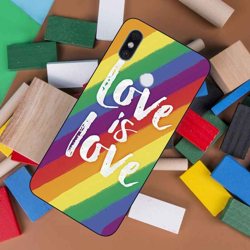 LGBT Love is love novedad funda de teléfono para Xiaomi Max2 Max3 Note2 Note3 MI6 MI8 Redmi Note5 Redmi5