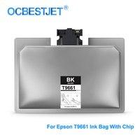 780ML/PCS T9661 XXL T9661XXL Pigment Ink Bag With Chip For Epson WorkForce Pro WF M5299 M5799 Printer T9661 Ink Cartridge