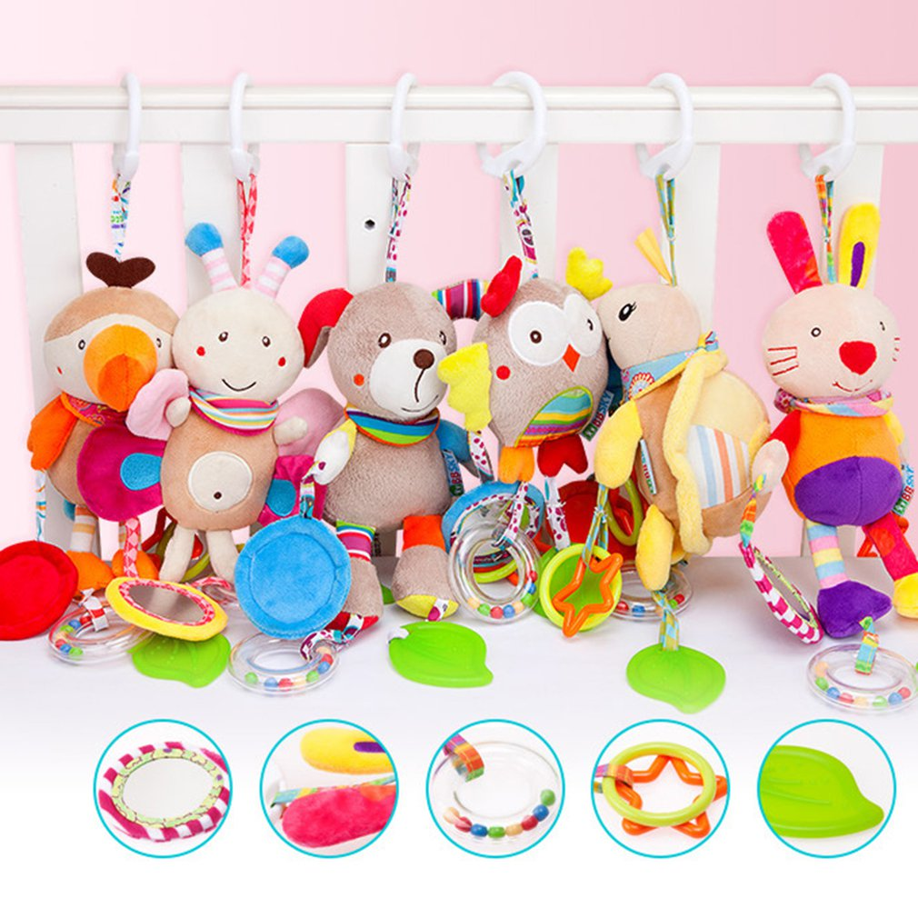 10 Styles Baby Toys 0-12 Months Cartoon Infant Toys Mobile Baby Plush Toy Bed Wind Chimes Rattles Bell Crib Bed Hanging Toy Gift