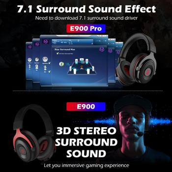 EKSA Gaming Headset Gamer E900 PRO Headset 7.1 Surround Sound Wired Headphones LED USB/3.5mm Earphones with Mic For Xbox PC PS4 2