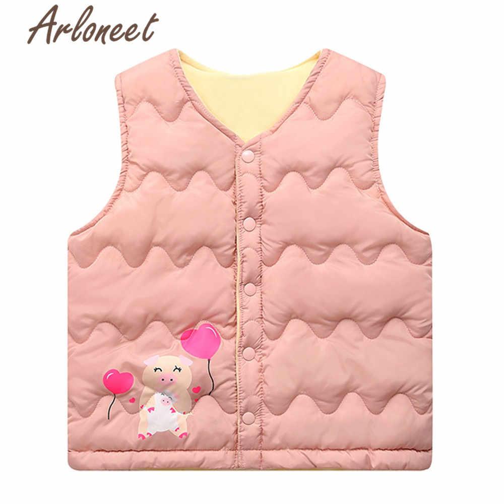 ARLONEET/пальто с героями мультфильмов пальто с капюшоном для маленьких девочек ультратонкая пуховая куртка для мальчиков, жилет, верхняя одежда детская парка зимняя ветрозащитная верхняя одежда
