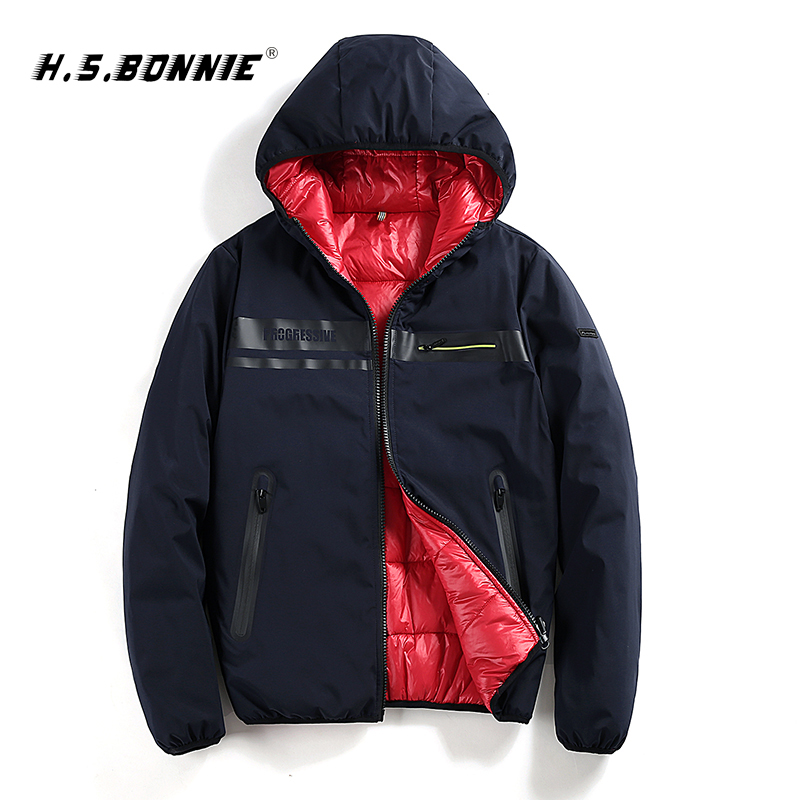 2019 New Fashion Men Winter Jacket Coat Casual Warm Zipper Student Double Face Coat Male Warm Thermal Hooded Jacket Homme