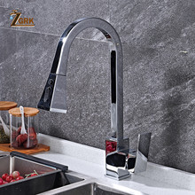Tap Kitchen-Faucets Water-Mixer Pull-Out Single-Handle Swivel Silver ZGRK 360-Degree