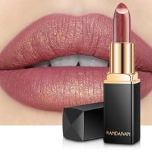 Профессиональная губная помада, макияж, водостойкая, стойкая перламутровая Помада для губ, пигмент, телесный, розовый, красный, роскошная косметика для губ