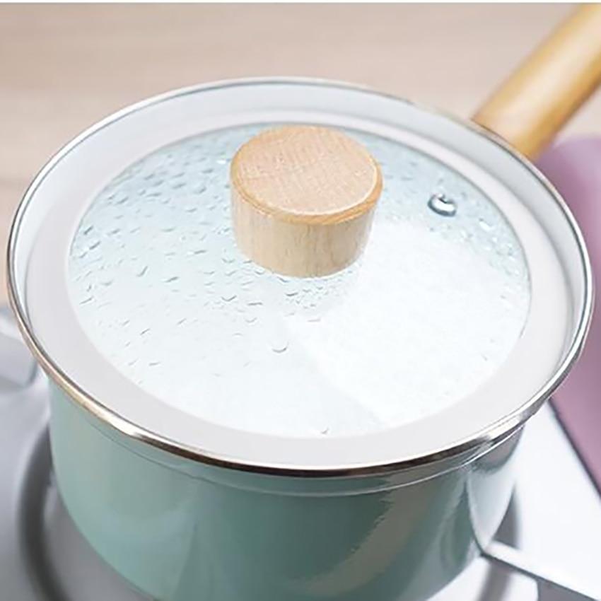 18cm Enamel Non-Stick Soup Noodles Pot With Lid 3