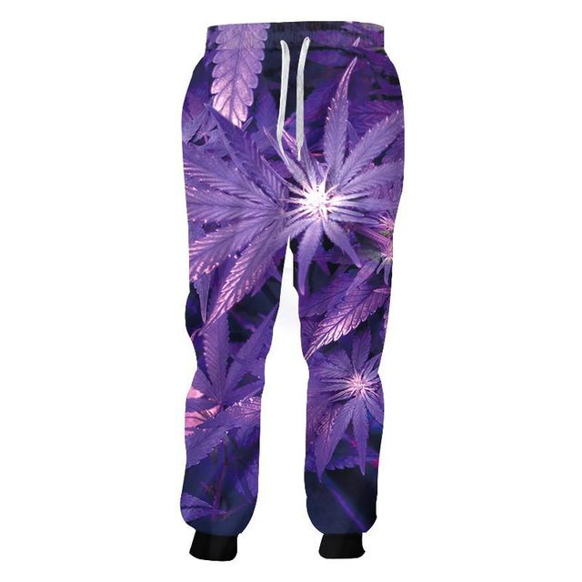 Fashion Weeds Pants Unisex 3D Smoking Leaf Print Casual Loose Trousers Streetwear Hip Hop Active Sports Joggers Sweatpants S-4XL 3