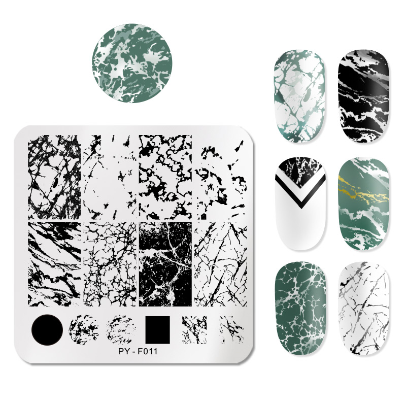 PICT You Animal Patterns Nail Stamping Plates Stainless Steel Nail Art Image Plate Stamp Template Stencil Tools PY-F011