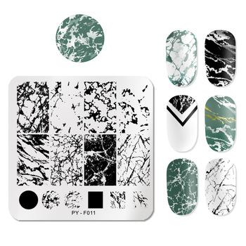 PICT You wzory zwierzęce płytki do tłoczenia paznokci ze stalowymi ćwiekami Art płytka z obrazkiem Stamp szablon narzędzia PY-F011 tanie i dobre opinie CN (pochodzenie) 6 cm * 6 cm PYG47730 Stainless Steel Tłoczenie