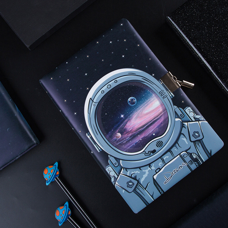 Wonderful A5 Diary Notebook with Lock Creative Journal Agenda Planner Organizer Cute Note BooK Back to School Traveler Handbook