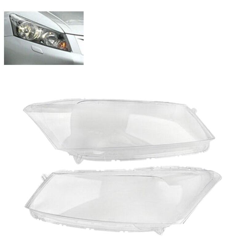 Couverture claire de coquille de phare de remplacement de couverture d'objectif de phare de voiture pour Honda Accord 2008-2012
