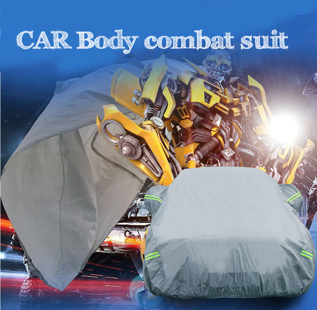 Universal Full Car Covers Snow Ice Dust Sun UV Shade Cover Foldable Light Silver Size S XXL Auto Car Outdoor Protector Cover dfd