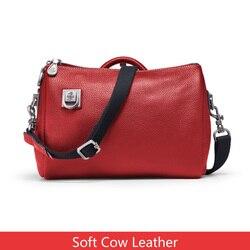 Orabird, bolso de cubo informal de piel auténtica suave para mujer, gran capacidad, bolso de hombro tipo bandolera de lujo, bolsa para compras grande para mujer