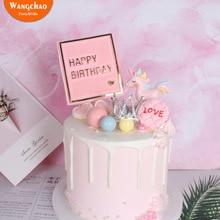 Unicorn Cake Topper Happy Birthday Party Decoration Crown Theme Set