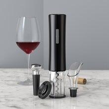 Juego de abridores de botellas de vino eléctricos, sacacorchos automático, extractor inalámbrico, Combo con cortador de aluminio, tapón al vacío