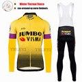 SPTGRVO LairschDan 2019 Jumbo Visma зимний термальный флисовый Джерси для велоспорта Майо набор одежды для велоспорта униформа для женщин/мужчин MTB наряд