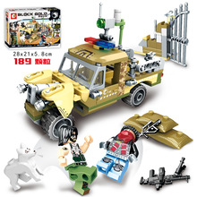 Toy Military WW2 Truck Advance Building Blocks For Children Army Vehicle Weapon Clone Trooper Soldier Figure DIY Armi Brick Mech 1061 pcs building block city blocks army truck building blocks military vehicle playmobil building toy for children kids gift