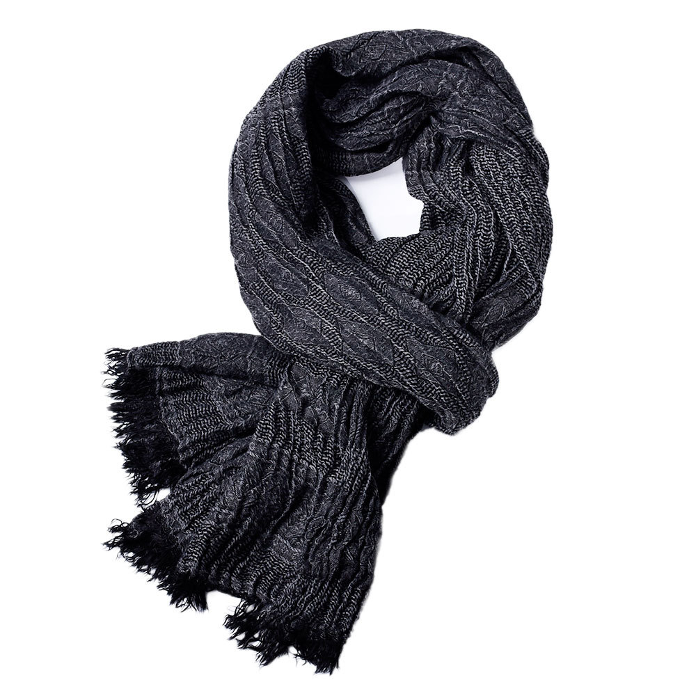 190*90cm High Quality Twill Yarn-dyed Men's Scarves Casual Business Solid Color Four Seasons Tassel Scarf