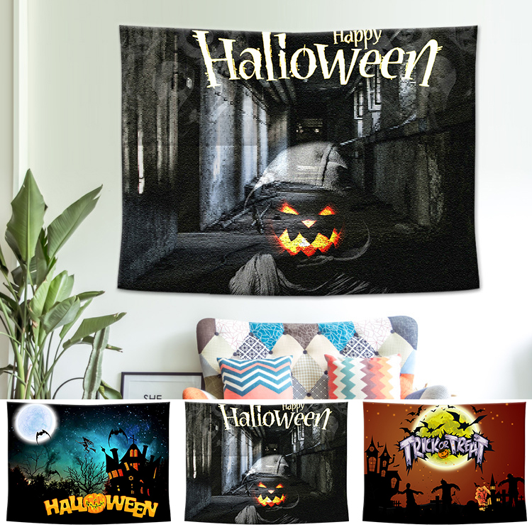 Hot Sale 2019 Halloween Wall Tapestry Wall Hanging Tapestry Home Decor Backdrop Yoga Picnic Mat 200cm X 150cm