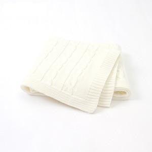 Image 4 - 新生児ボーイズガールズベビー毛布ニット幼児 SwaddleMonthly 子供キルト幼児ベビーカー Cobertor ための無料ダウンロードアイテム Infantil ラップ