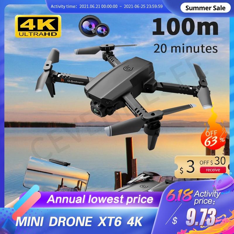 2021 New Mini Drone XT6 4K 1080P HD Camera WiFi Fpv Air Pressure Altitude Hold Foldable Quadcopter RC Drone Kid Toy GIft VS E520