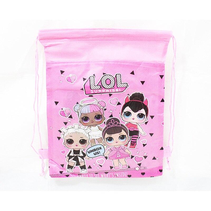 1 pc Original Bundle Pocket Storage Bag Non-woven Fabric Shopping Bag lol surprise dolls Anmie Figure Toys for Children-0