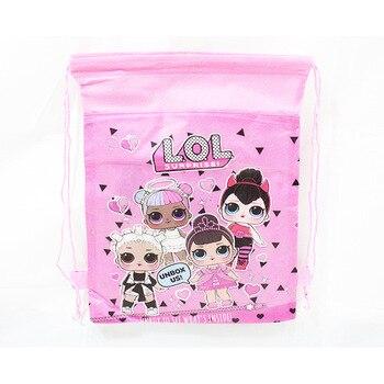 1 pc Original Bundle Pocket Storage Bag Non-woven Fabric Shopping Bag lol surprise dolls Anmie Figure Toys for Children