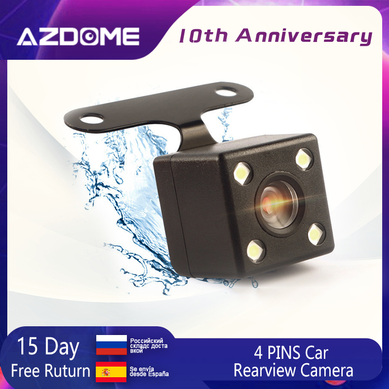 AZDOME 4 PINS Rear View Camera For GS63H DVR Video Recorder Waterproof 6 And 10 Meters Vehicle Backup Cameras