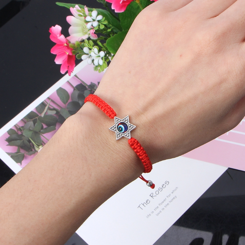 Lucky Kabbalah Red String Thread Hamsa Bracelets Blue Turkish Evil Eye Charm Women Handmade Fatima Friendship Jewelry 4