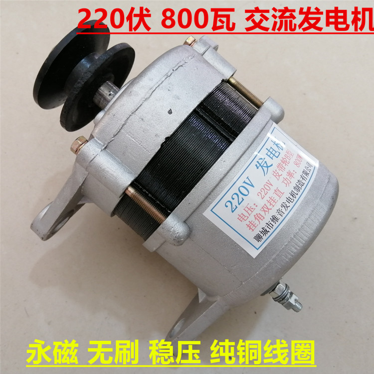Pulley permanent magnet 220v 800w 1500w watt power pack new copper wire household AC brushless generator