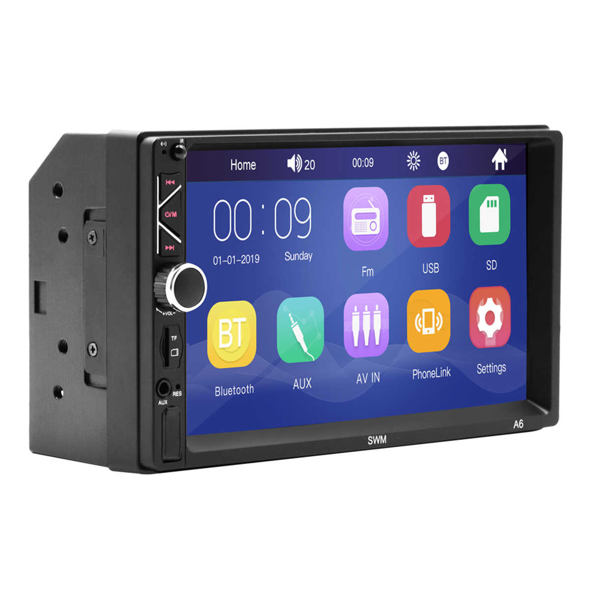 7inch 2 Din Touch Screen HD 87.5-108Mhz Autoradio usb-uitgang MP5 Speler TF/ USB/AUX-in/Bluetooth Audio Video Player