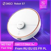 360 s7 de navegação a laser robô aspirador de pó com slam route planning 2000pa sucção limpar fora-limite configuração